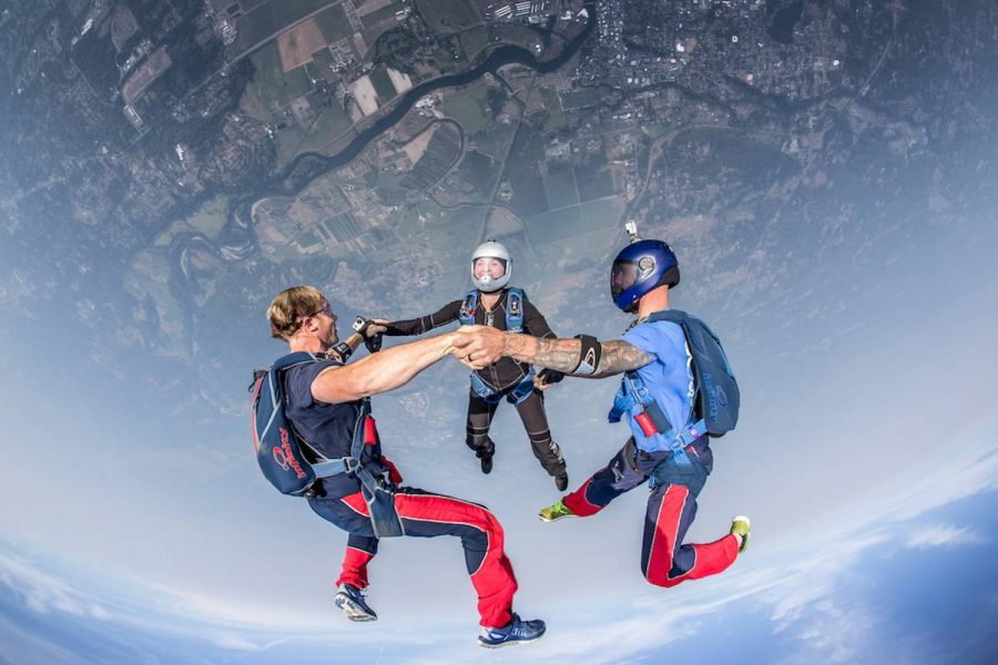 Experienced Skydivers Headdown